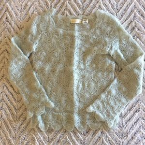 Anthropologie Scalloped Sweater / Mint Green